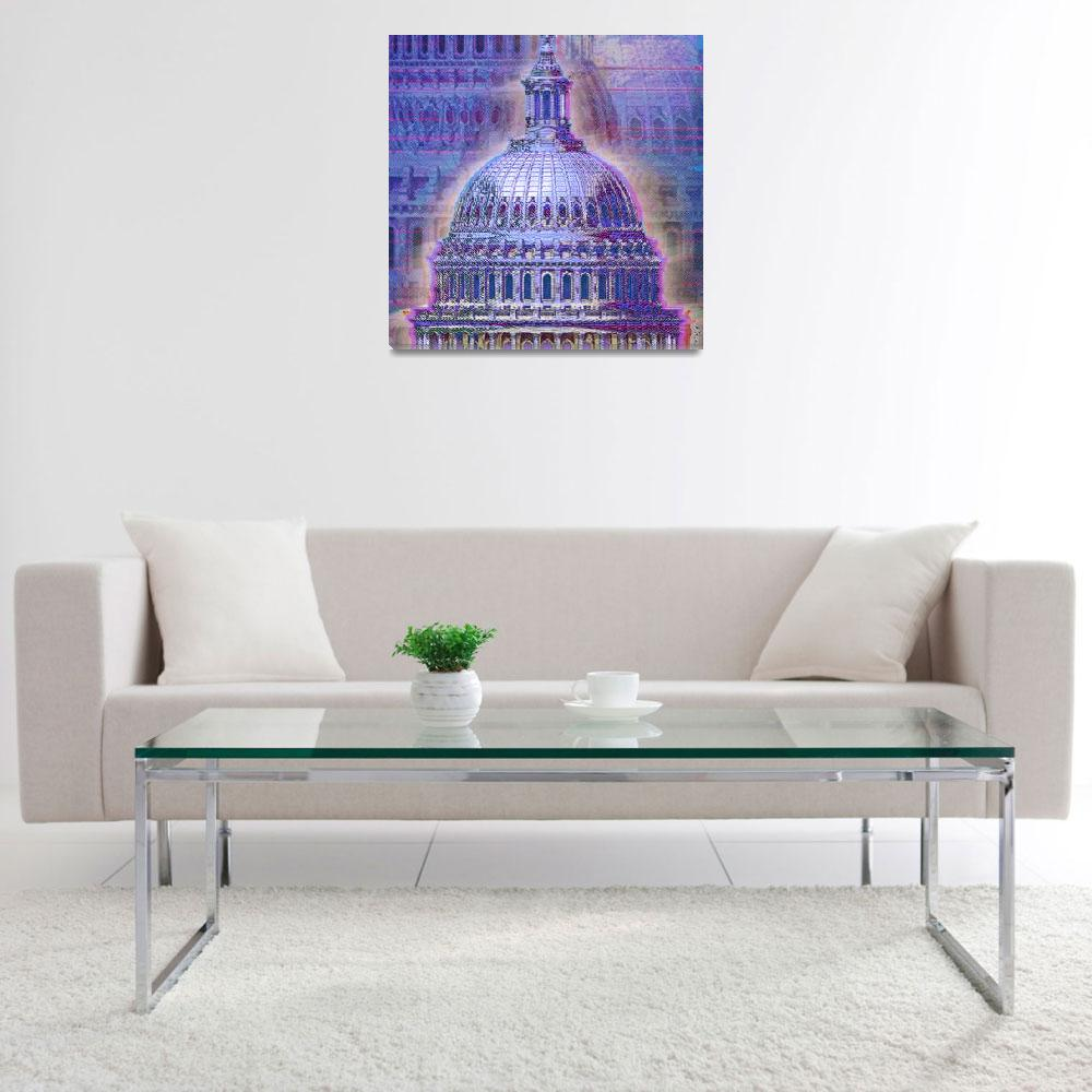 """Washington Capitol Dome""  (2013) by RubinoFineArt"