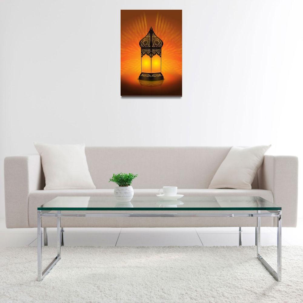 """""""Beautiful and Intricate Arabic Lamp""""  (2009) by akhilesh"""