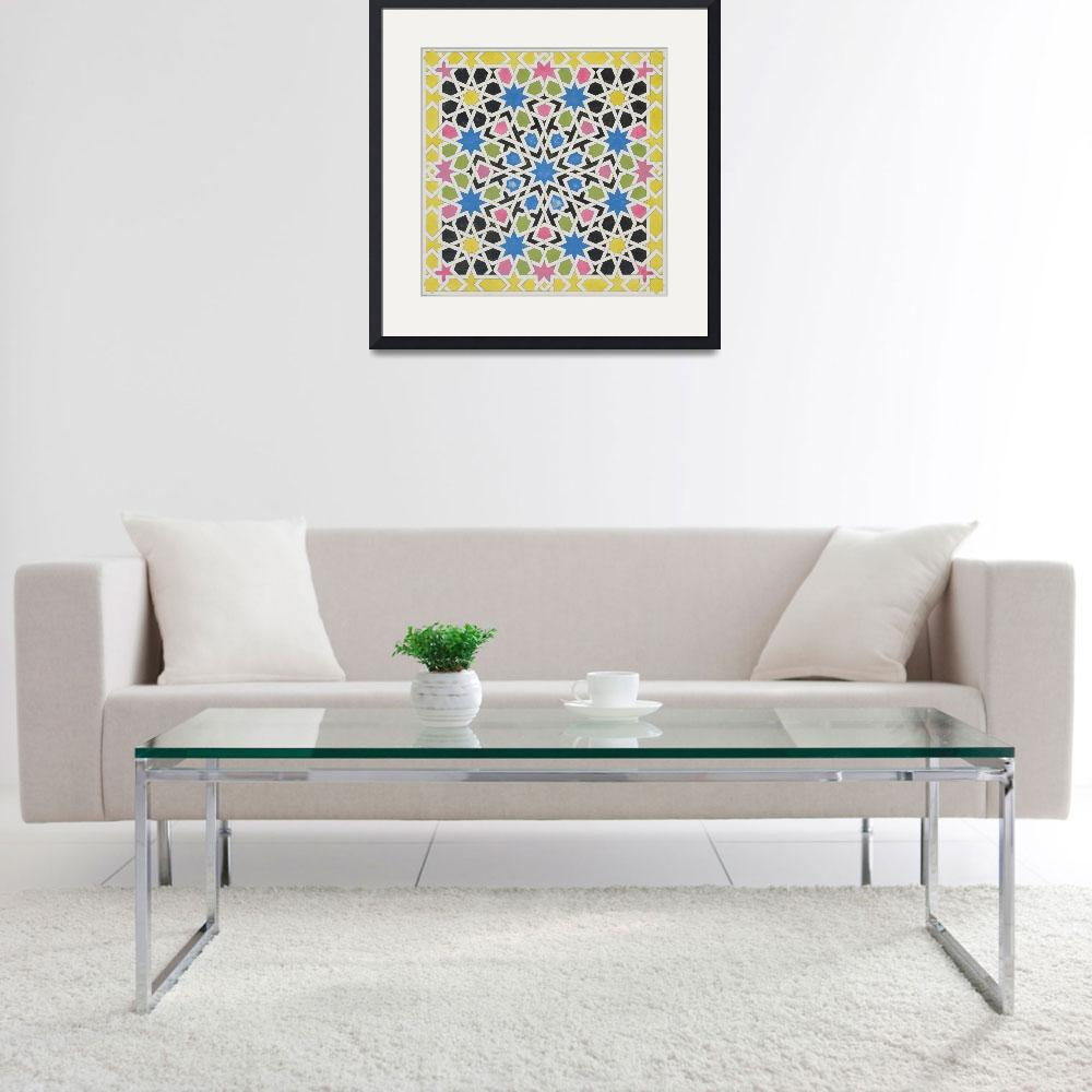 """""""Mosaic design from the Alhambra&quot  by fineartmasters"""