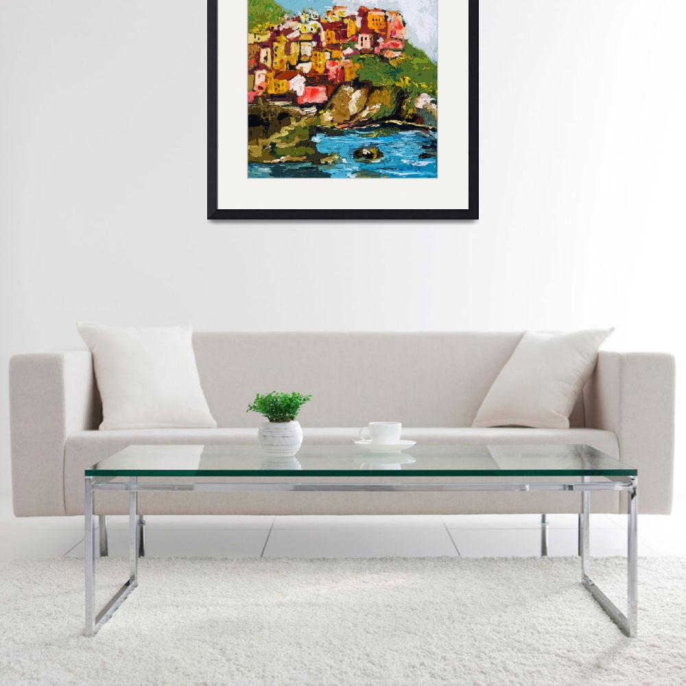 """""""Monarolla Cinque Terre Italy Art by Ginette&quot  (2013) by GinetteCallaway"""