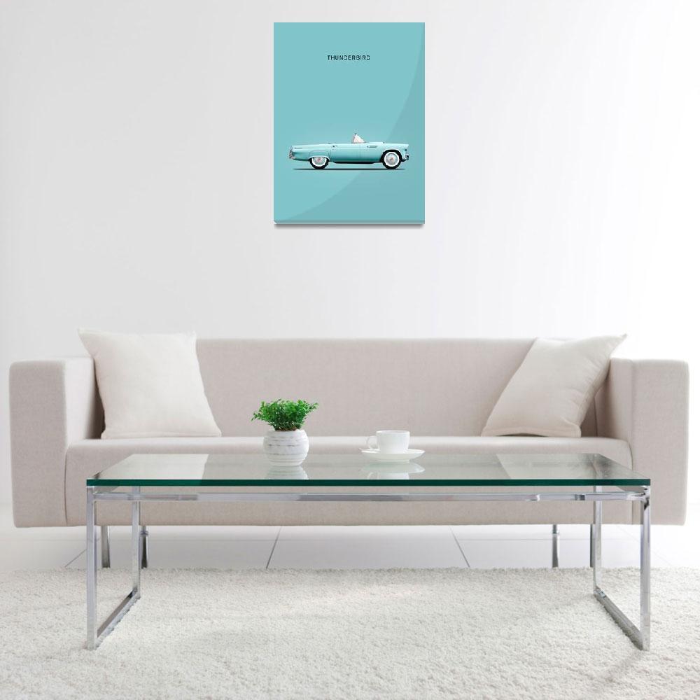 """Ford Thunderbird""  (1957) by mark-rogan"