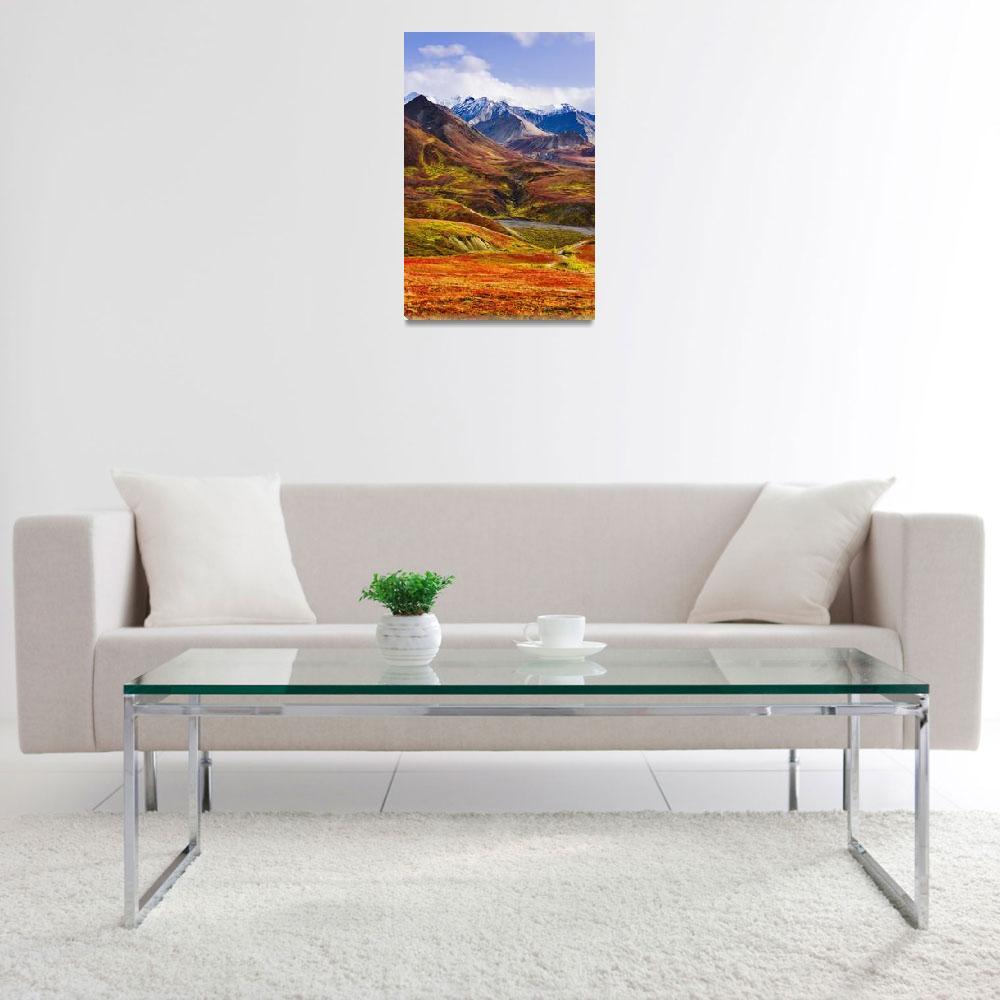 """""""Fall Colours And Alaska Range, Denali National Par&quot  by DesignPics"""