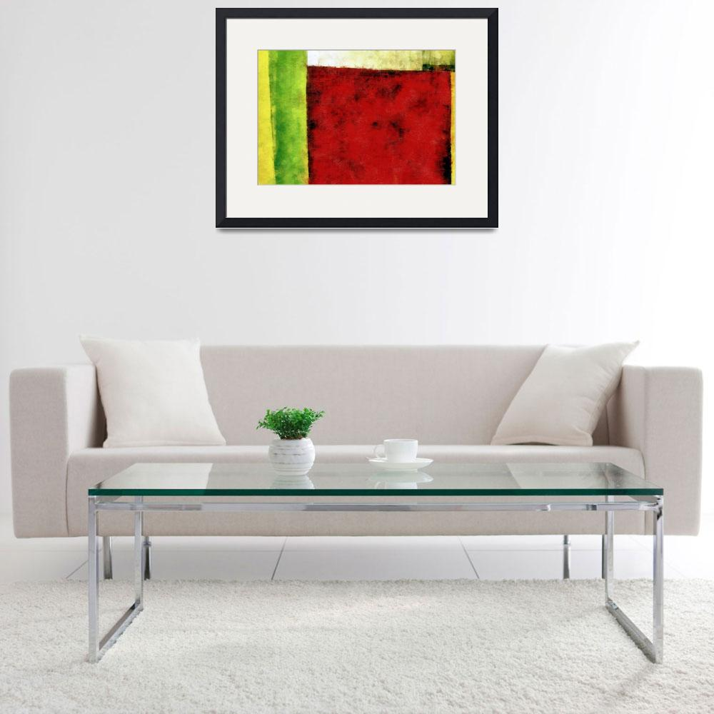 """""""Red and Green Abstract&quot  (2008) by Michelle1991"""