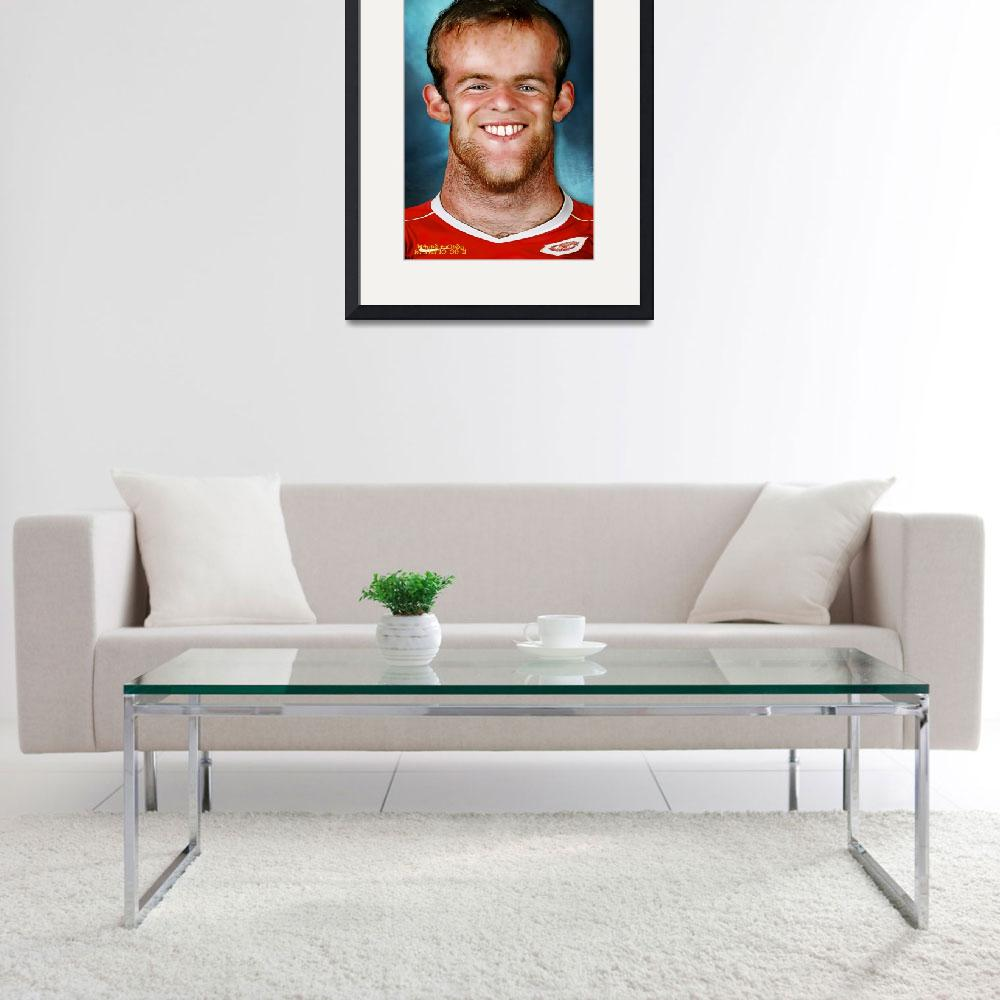 """""""Wayne Rooney&quot  (2011) by noedieartwork"""