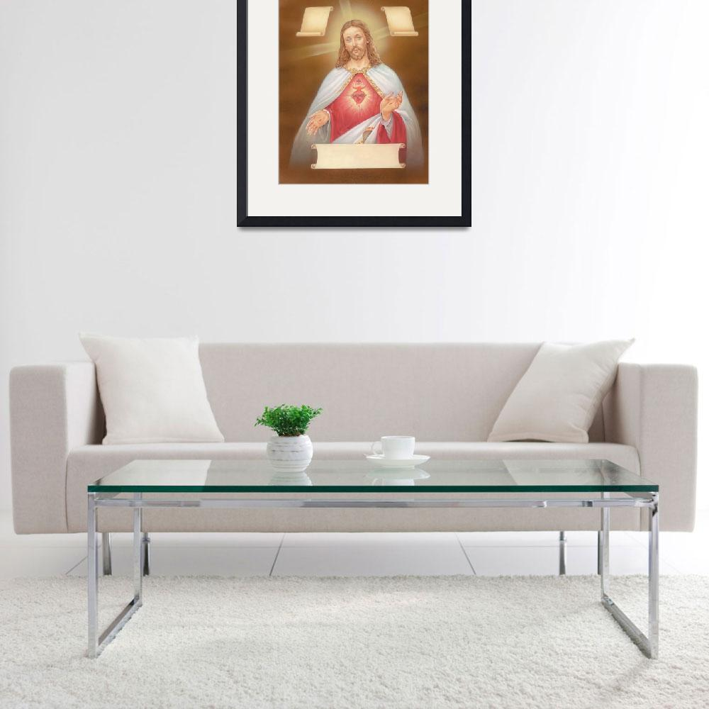 """""""Jesus with three scrolls&quot  by artlicensing"""