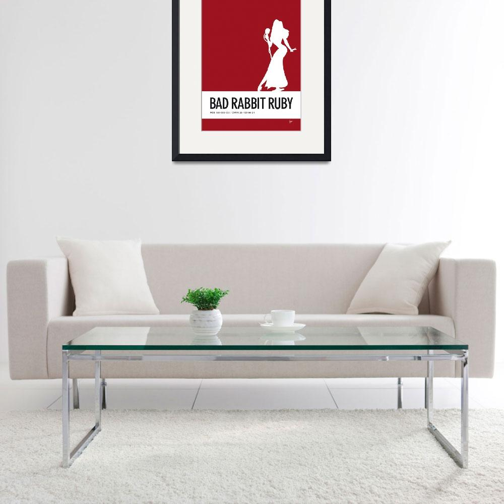 """""""No14 My Minimal Color Code poster Jessica Rabbit&quot  by Chungkong"""
