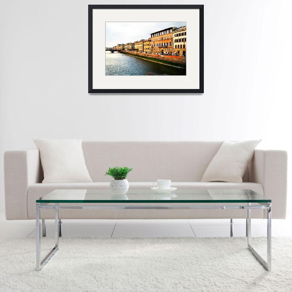 """""""Florence on the Arno II&quot  (2009) by knightvision"""