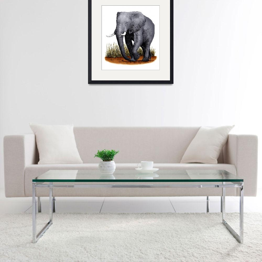 """""""African Elephant""""  by inkart"""