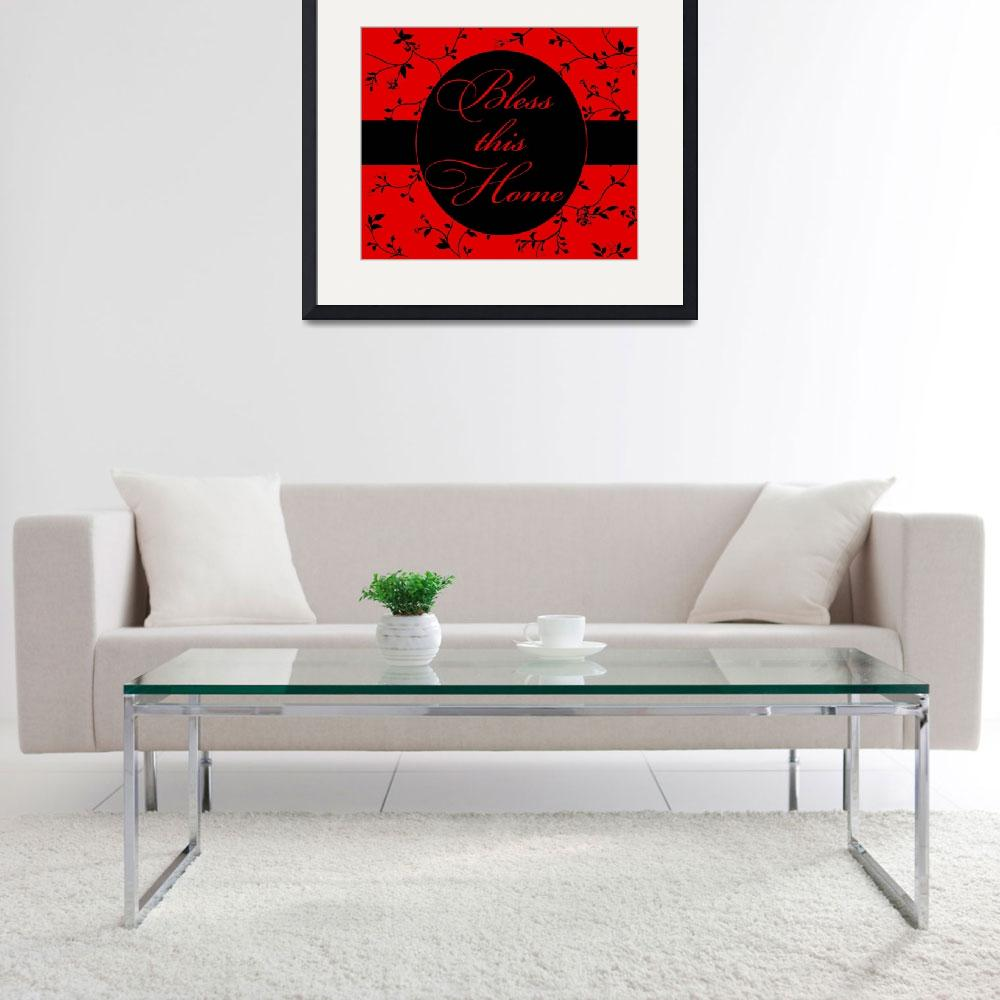 """""""bless this home red and black&quot  by lizmix"""