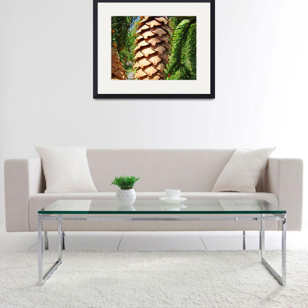"""""""Golden Pine Cone Fine Art Photography Baslee&quot  (2010) by BasleeTroutman"""