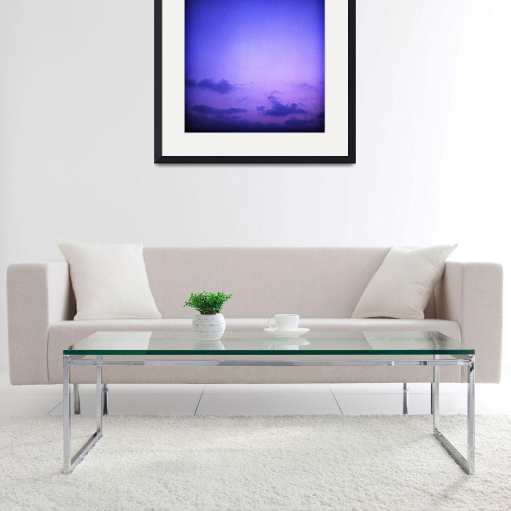 """""""Clouds in sky in blue purple&quot  (2008) by edwardolive"""