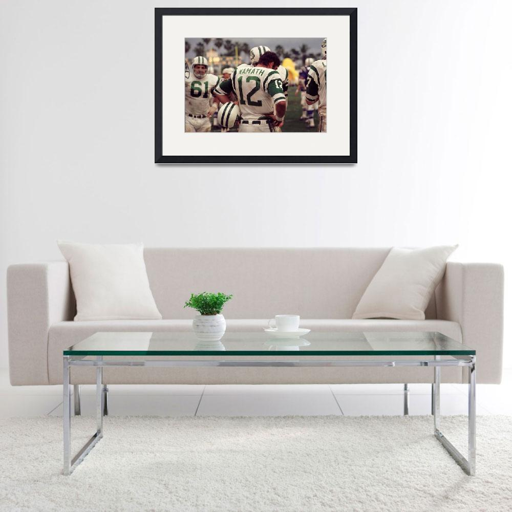 """Joe Namath waiting on the sideline&quot  by RetroImagesArchive"