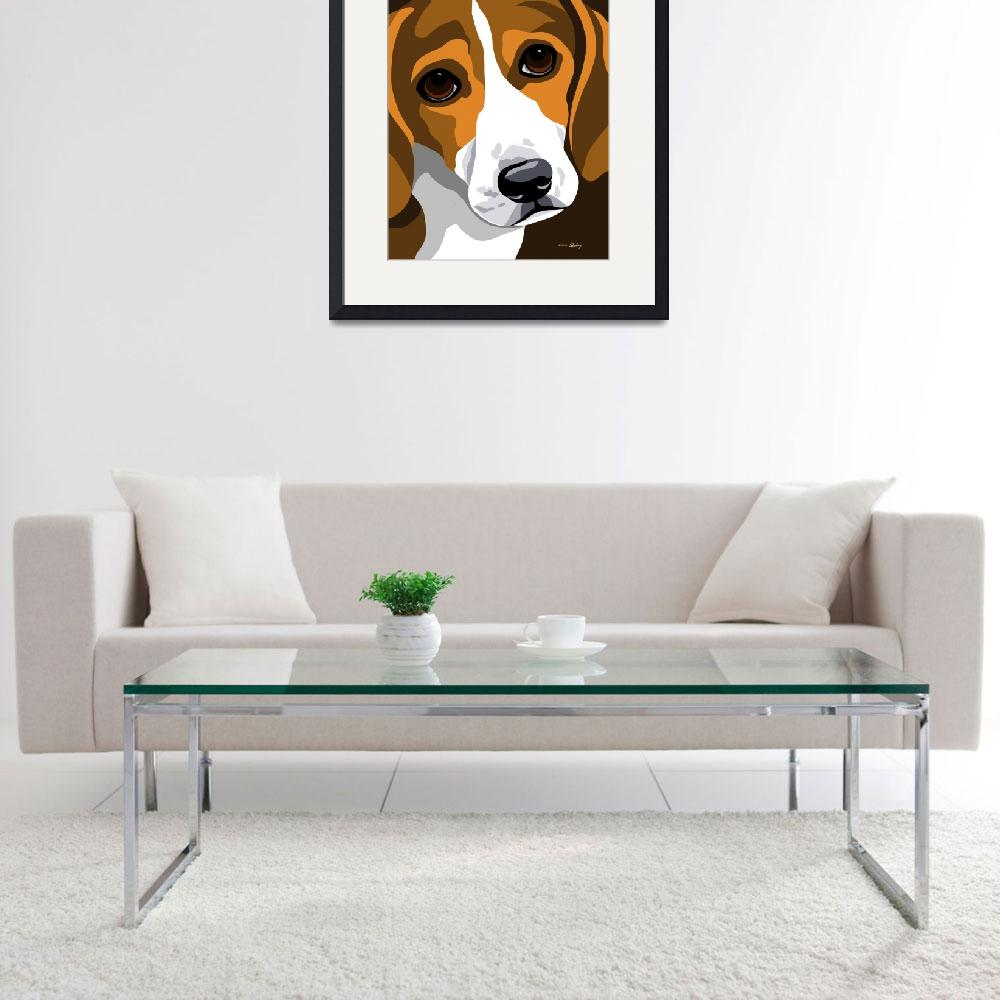 """Beagle&quot  (2010) by waterart"