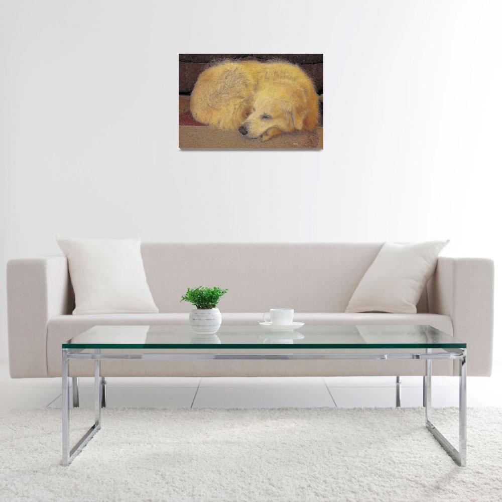 """""""Cozy, Dog Dreaming&quot  (2010) by byStangz"""