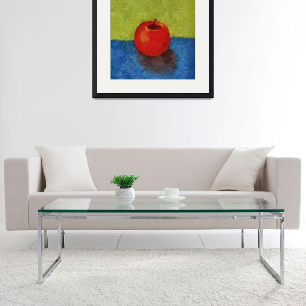 """""""Apple with Green and Blue&quot  by Michelle1991"""