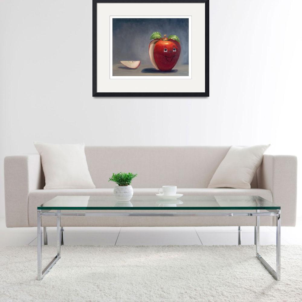 """""""Happy Apple&quot  (2009) by jolieguillebeau"""