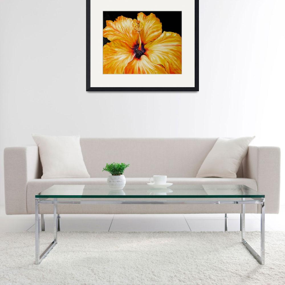 """""""Yellow Hibiscus April 2007 by M Baldwin&quot  by MBaldwinFineArt2006"""