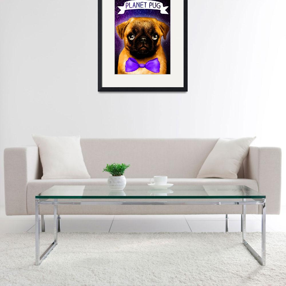 """""""Pug in universe&quot  (2016) by Lillie"""