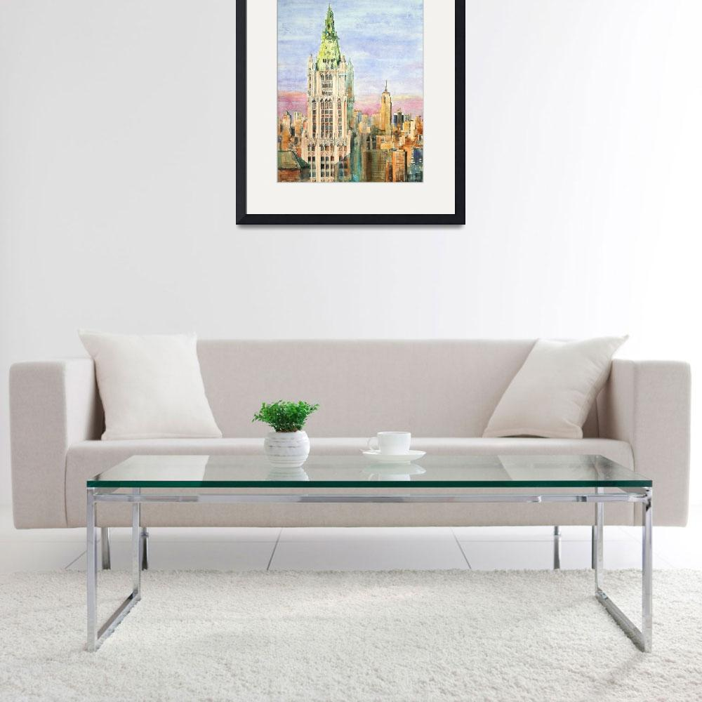 """""""Woolworth Building&quot  (2015) by ShaSha"""