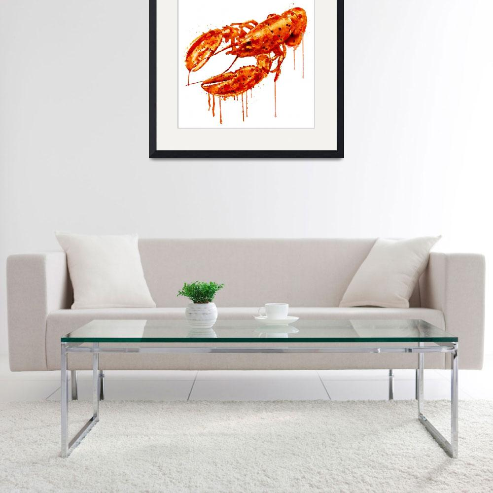 """Crayfish Watercolor Painting&quot  (2015) by MarianVoicu"