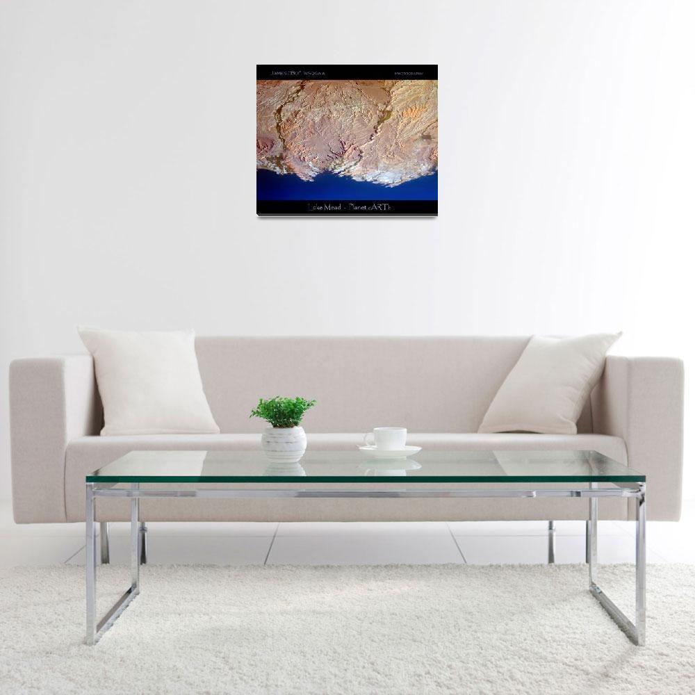 """Planet Art 5 - Lake Mead""  (2007) by lightningman"