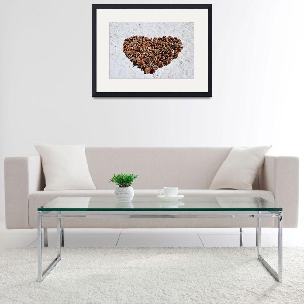 """""""Pinecone Heart&quot  (2009) by starrtwin1"""