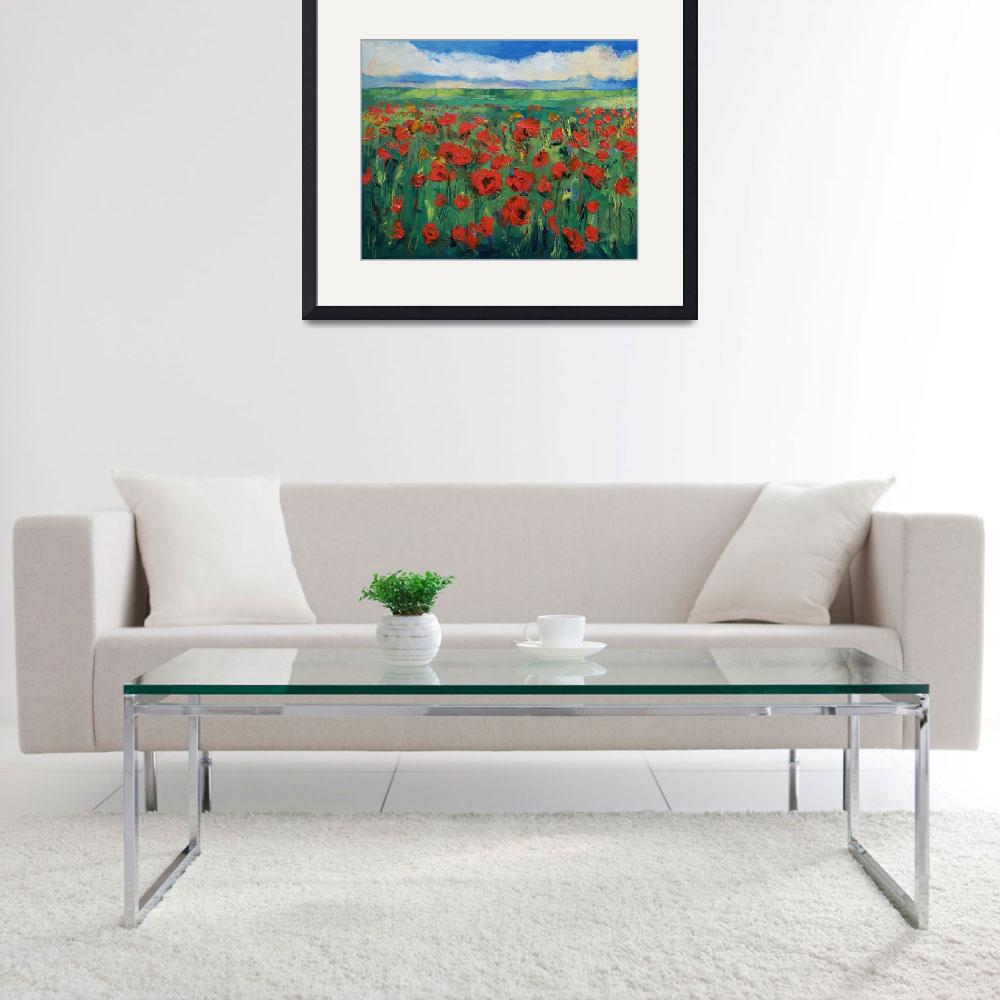 """""""Field of Red Poppies&quot  by creese"""