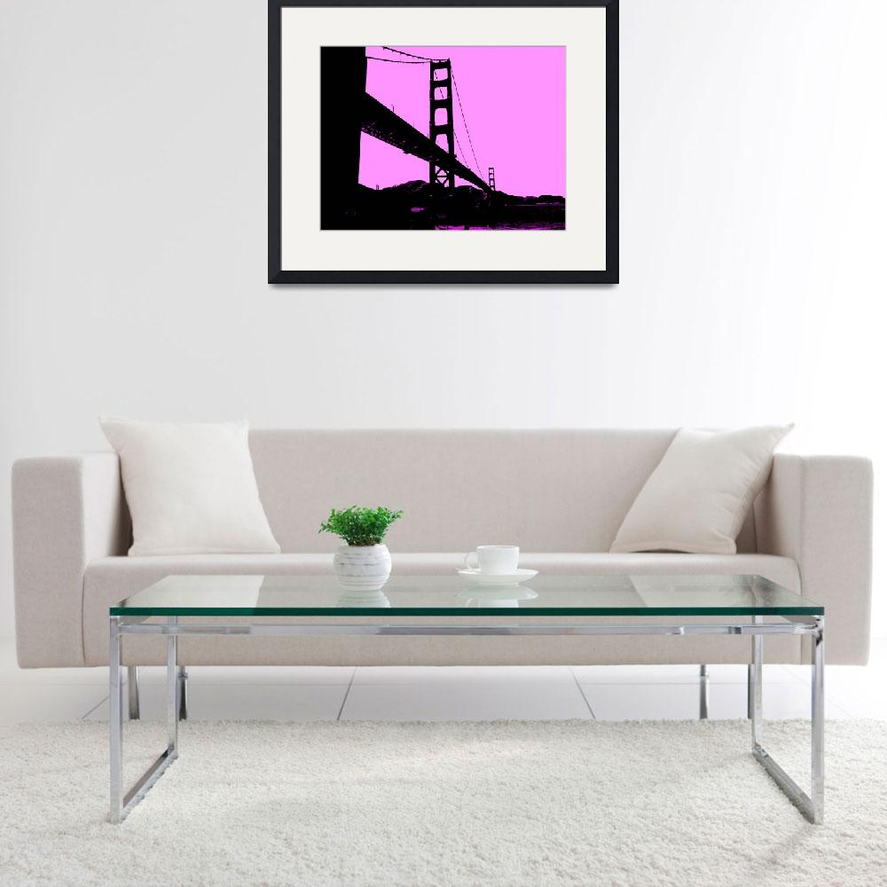 """Golden Gate Bridge in Pink""  (2013) by NKJEK"