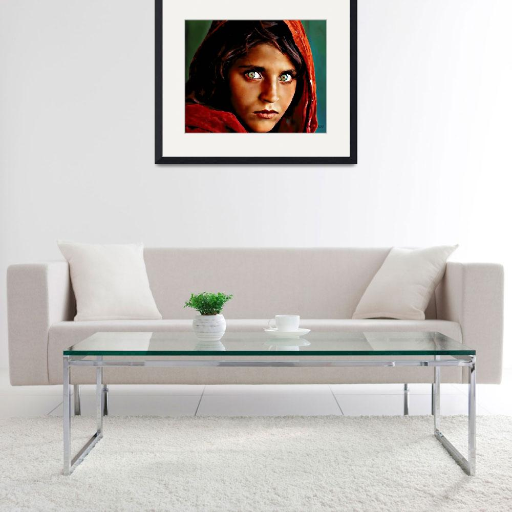 """""""Afghan Girl&quot  (2010) by Khailey"""