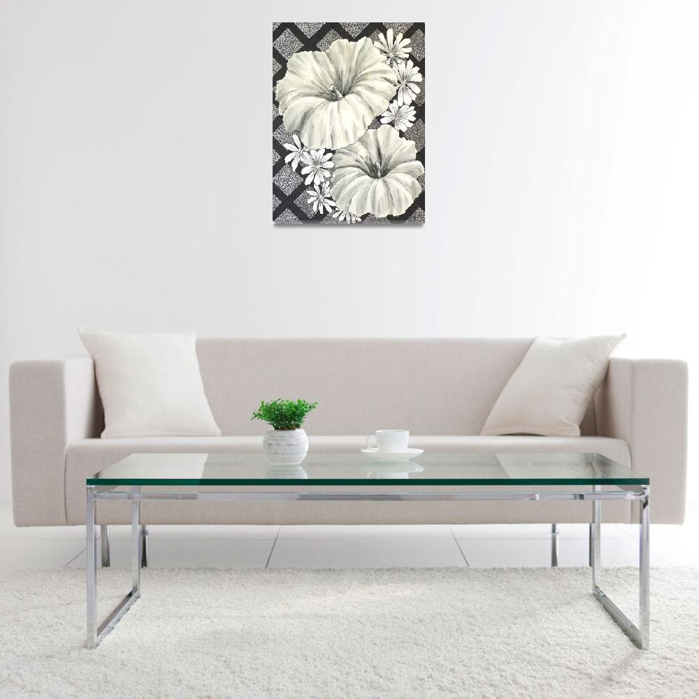 """""""Black and White Blooms""""  (2010) by DCHeslin"""