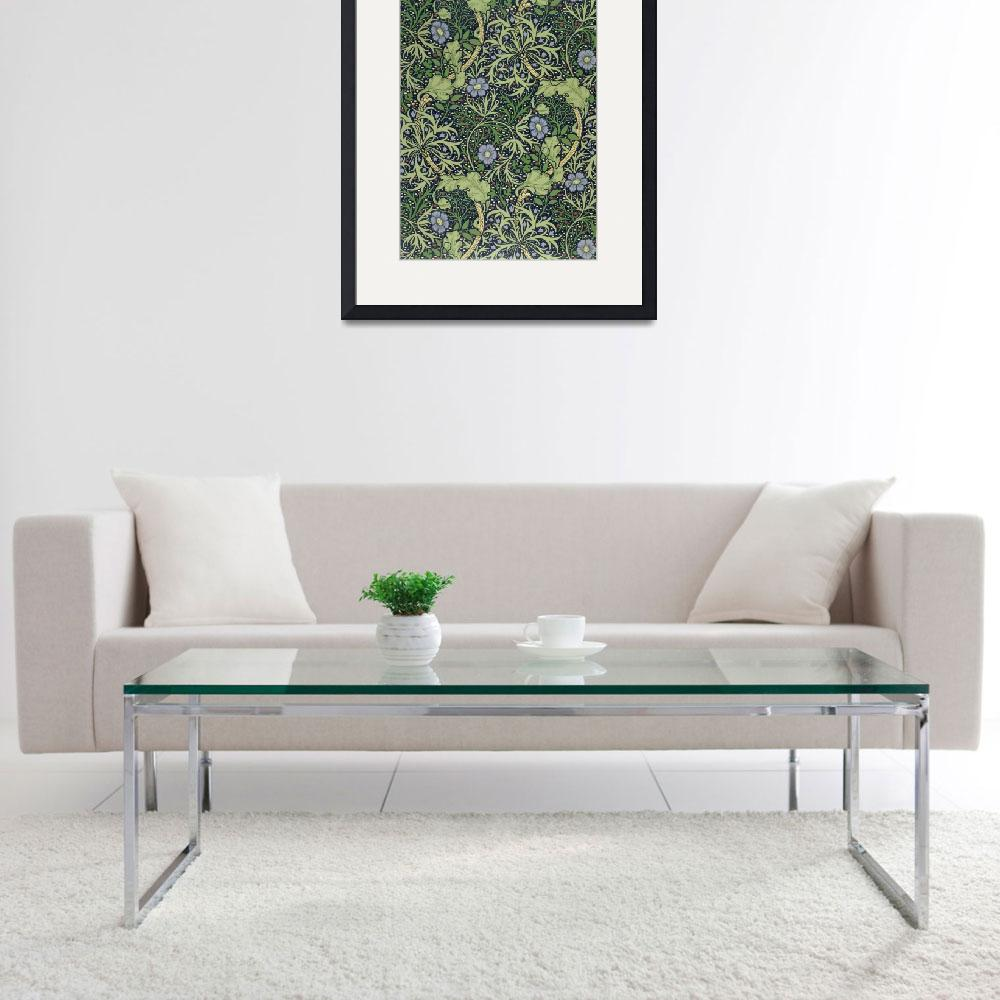 """""""Seaweed Wallpaper Design, printed by John Henry De&quot  by fineartmasters"""