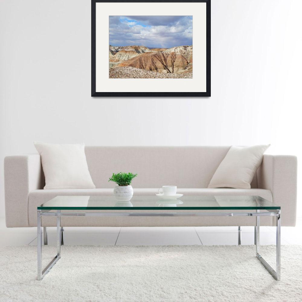 """""""Rain Squall Behind the Badlands&quot  (2012) by LyndaLehmann"""