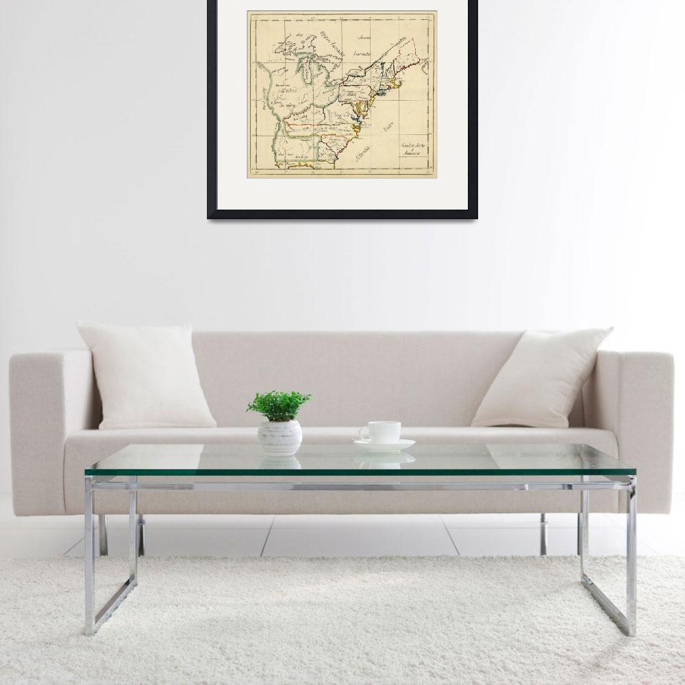 """""""Vintage Map of The United States (1810)""""  by Alleycatshirts"""