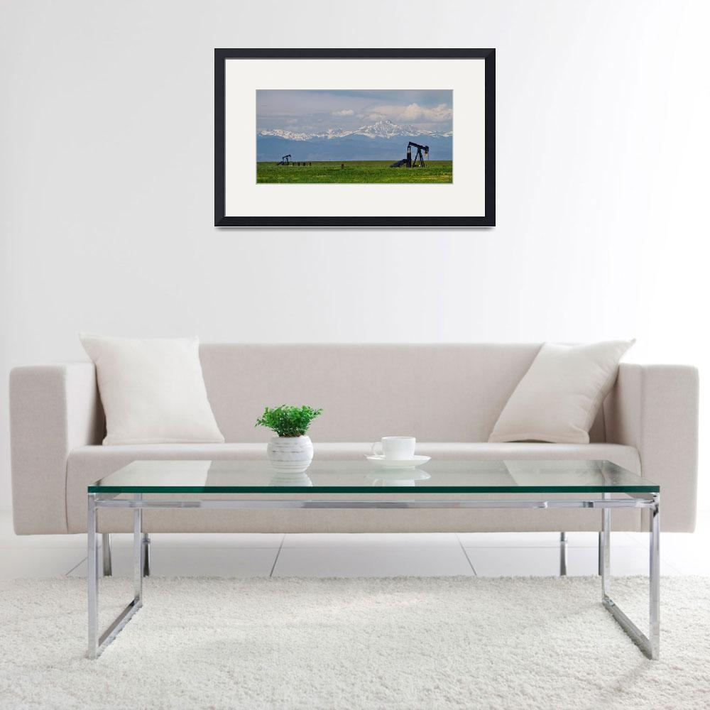 """""""Rocky Mountain Front Range Oil Panorama&quot  (2014) by lightningman"""