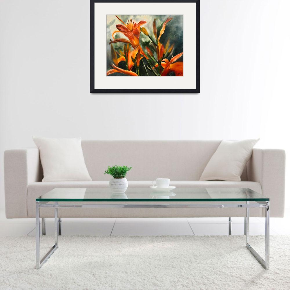 """""""Tiger Lilies&quot  (2013) by LJdesigns"""
