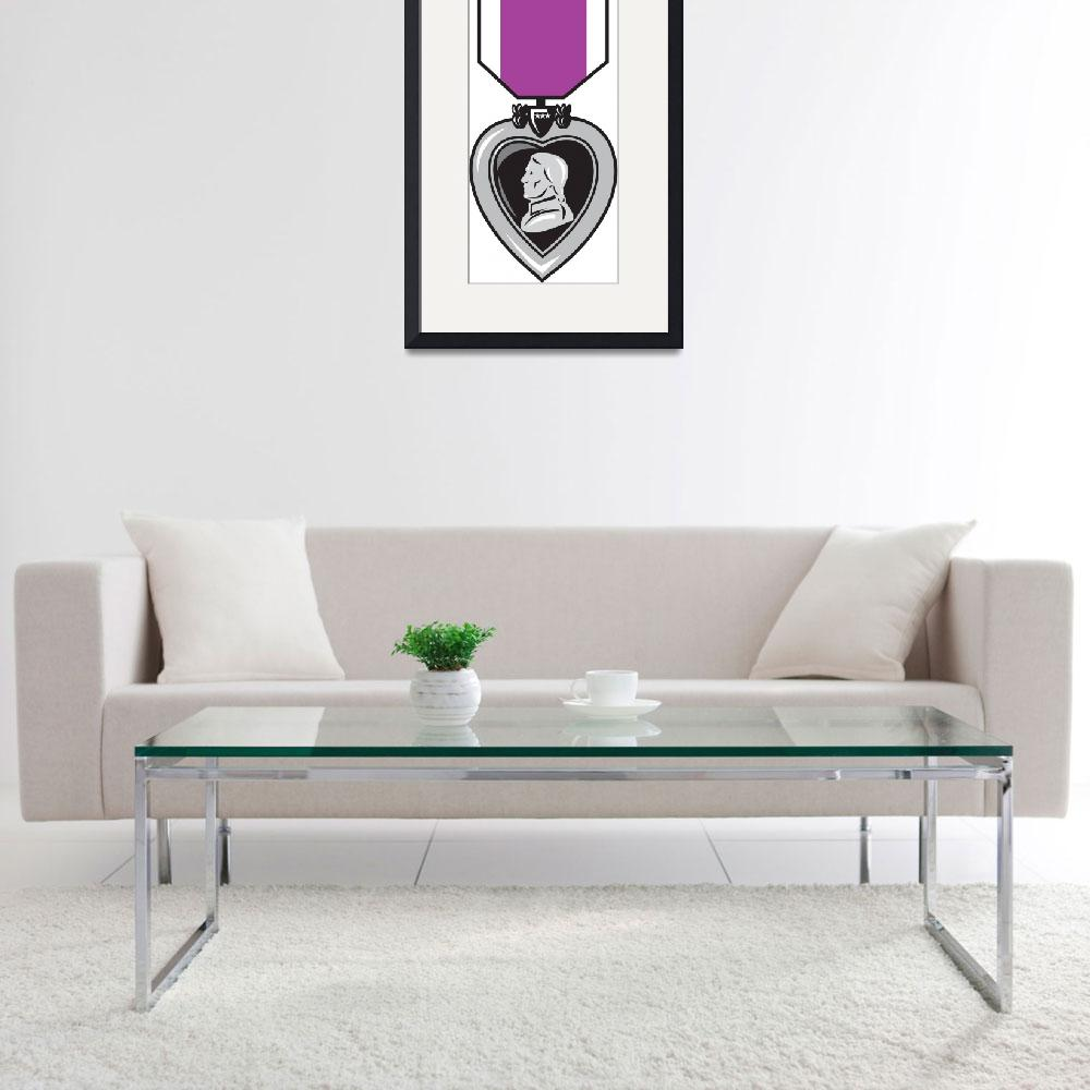 """military medal of bravery valor purple heart&quot  (2013) by patrimonio"