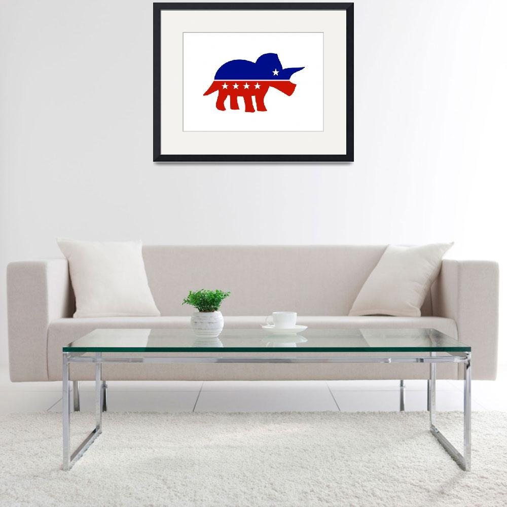 """""""Triceratops USA political logo&quot  by jezkemp"""