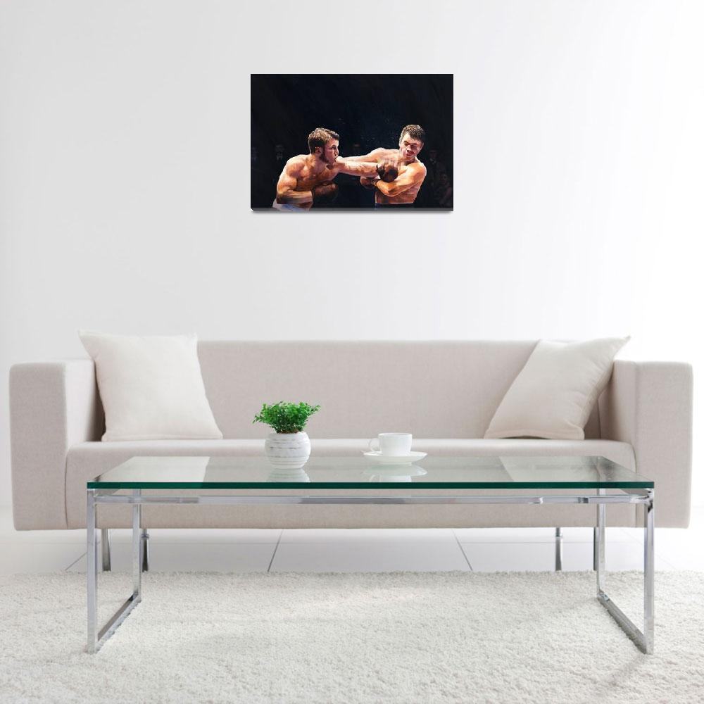 """""""Theodore Roosevelt as a young man boxing""""  by fineartmasters"""