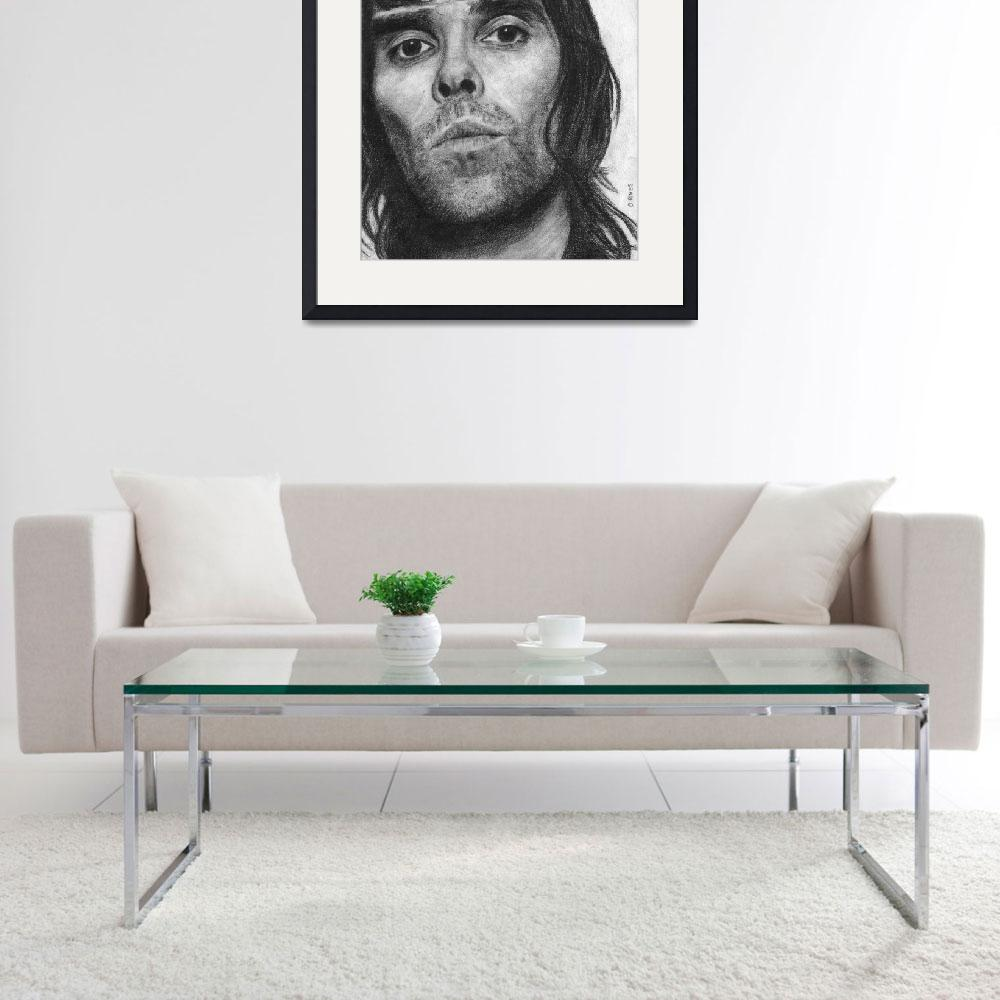 """""""Ian Brown Pencil Drawing&quot  (2012) by daverives"""