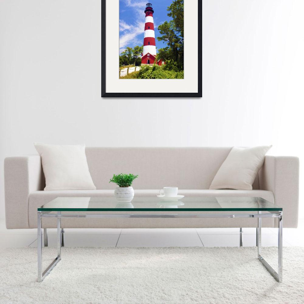 """chincoteague light house&quot  (2014) by ADulaney"