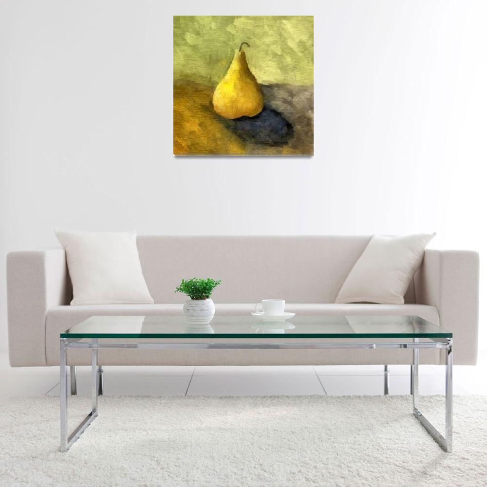 """""""Pear Still Life with Green and Brown""""  (2007) by Michelle1991"""