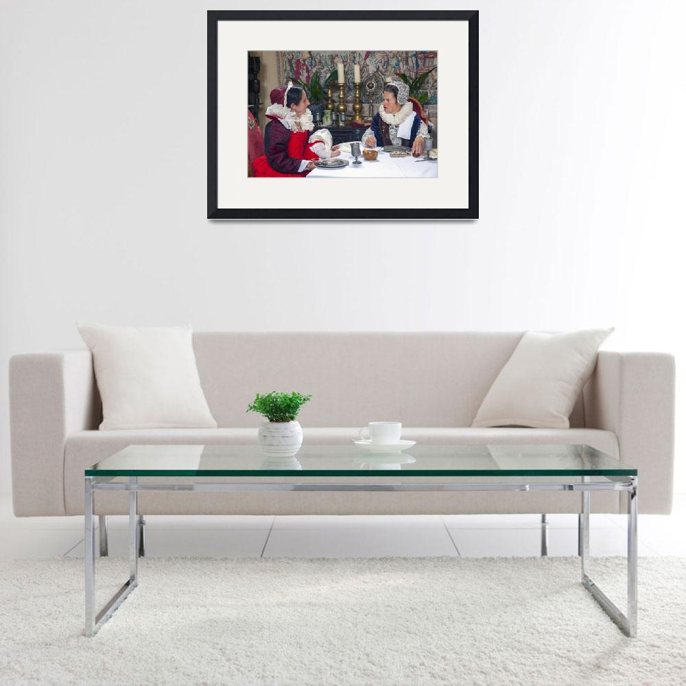 """""""Tudor ladies at dinner&quot  (2016) by daveturnerphotography"""
