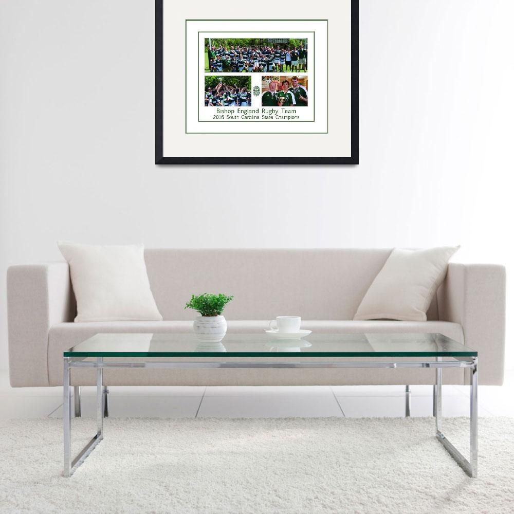 """""""BE Rugby Champs Poster&quot  (2016) by FluidColor"""