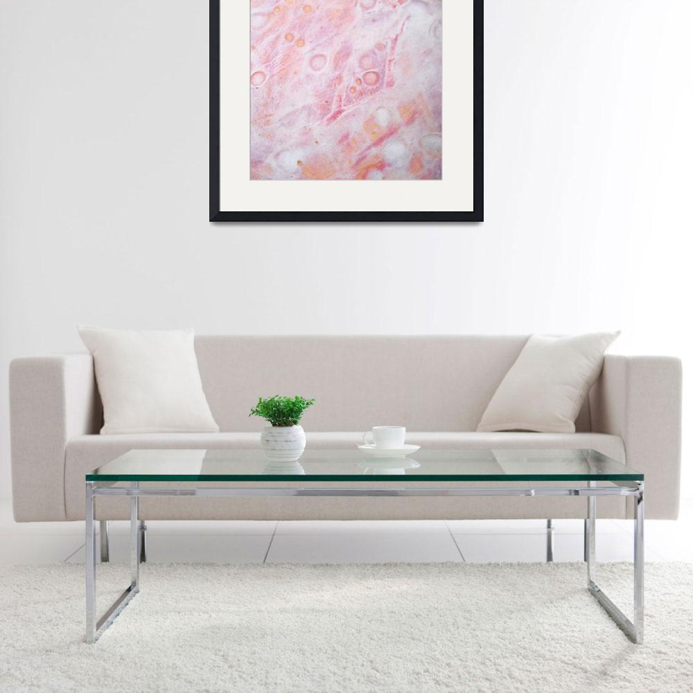 """""""6. v2 Pink and White Textured Abstract&quot  (2016) by maggieminordesigns"""