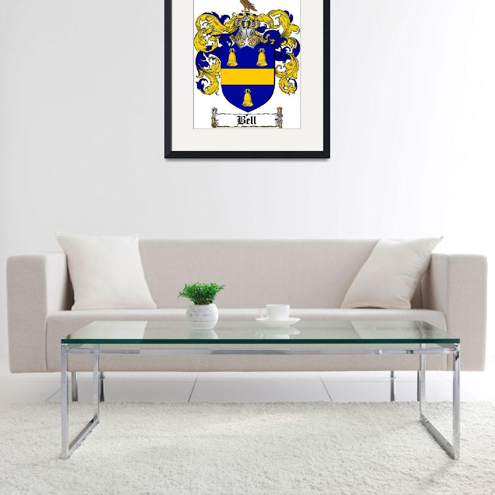 """""""BELL FAMILY CREST - COAT OF ARMS&quot  by coatofarms"""