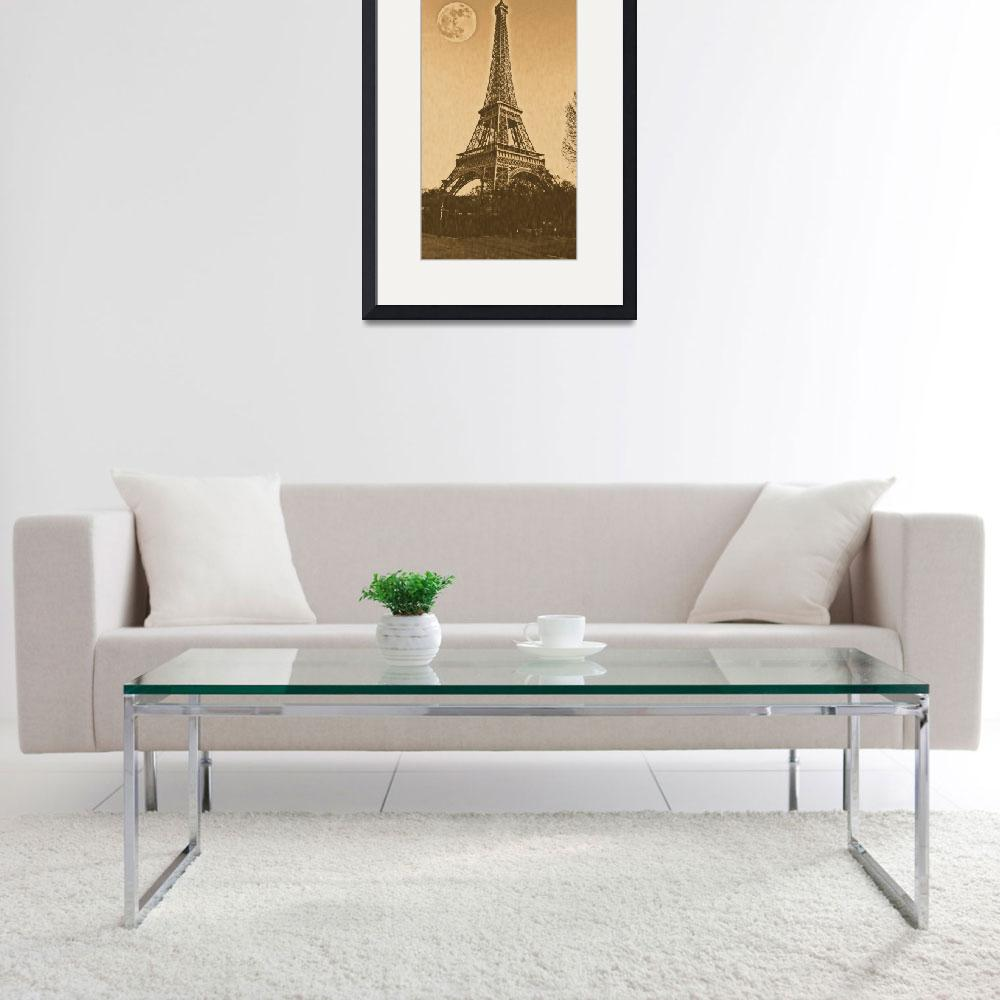 """Vintage Poster of eiffel tower""  (2017) by motionage"