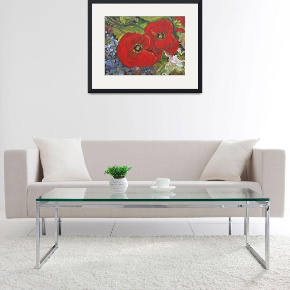 """""""Two Poppies""""  (2011) by DreamGallery"""