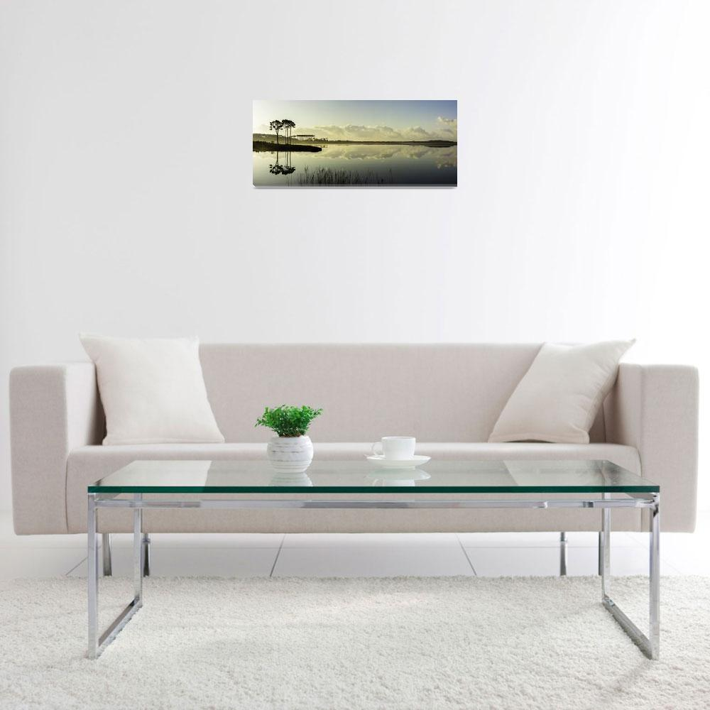 """Western Lake Sunrise Panorama&quot  by mooncreek"