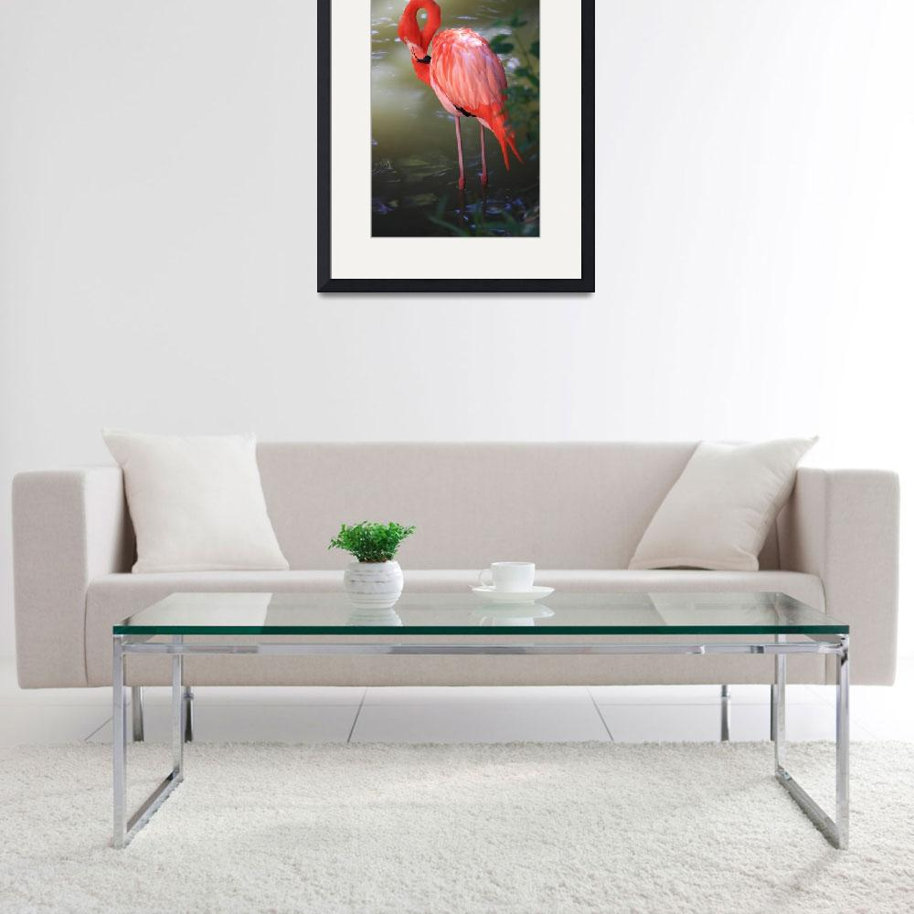 """""""Pink Flamingo&quot  by Groecar"""