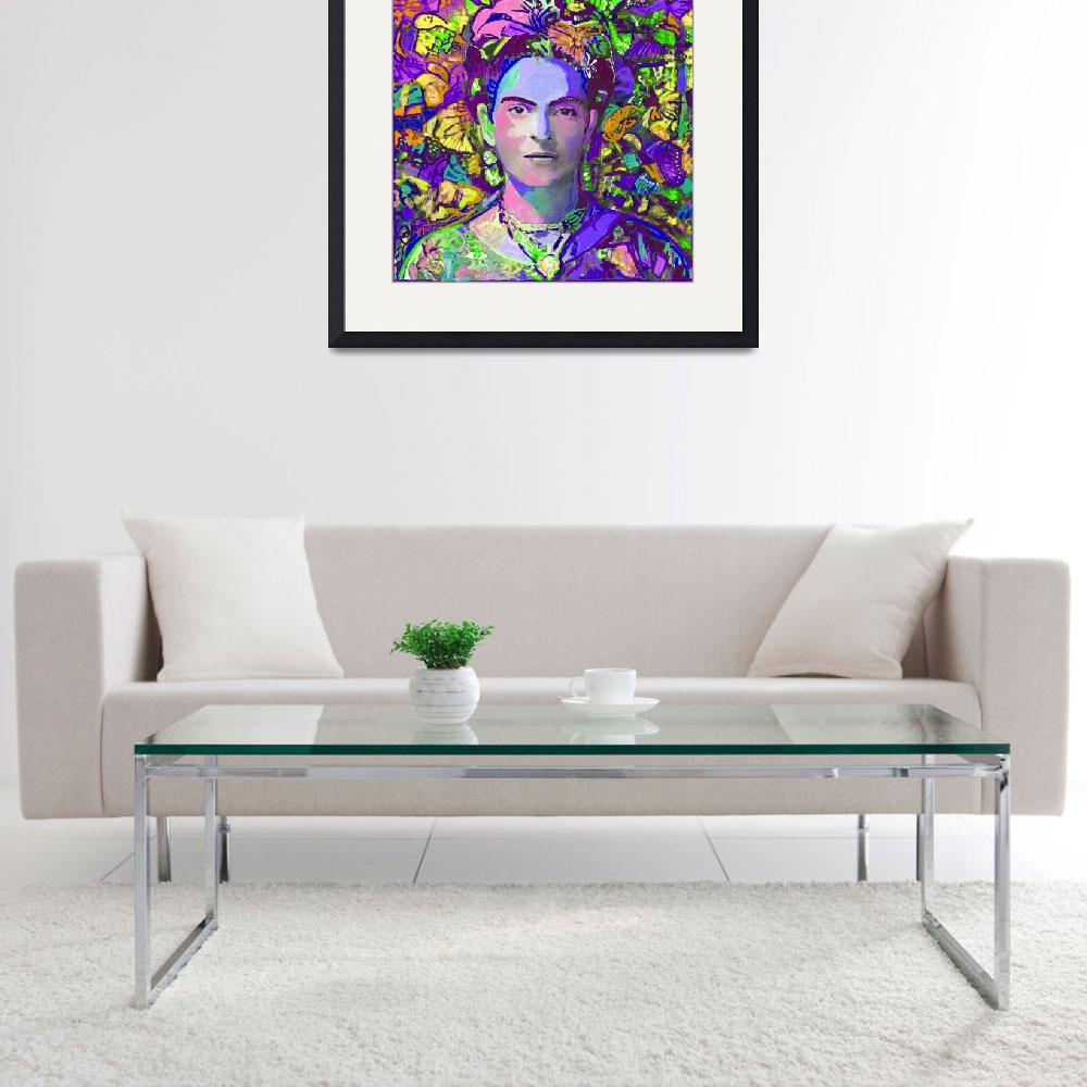 """""""Purple Frida in the butterflies&quot  (2017) by RDRiccoboni"""